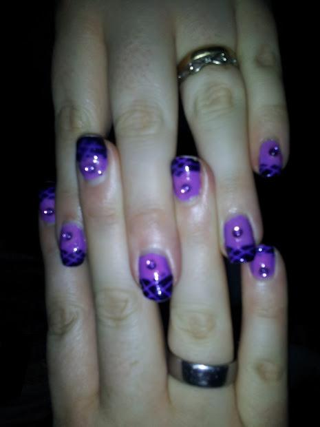 nail art light purple lattice