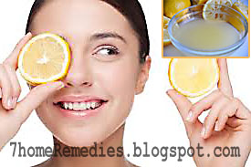Natural lemon juice to get rid of acne