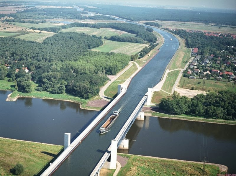 The Stunning Magdeburg Water Bridge | Germany