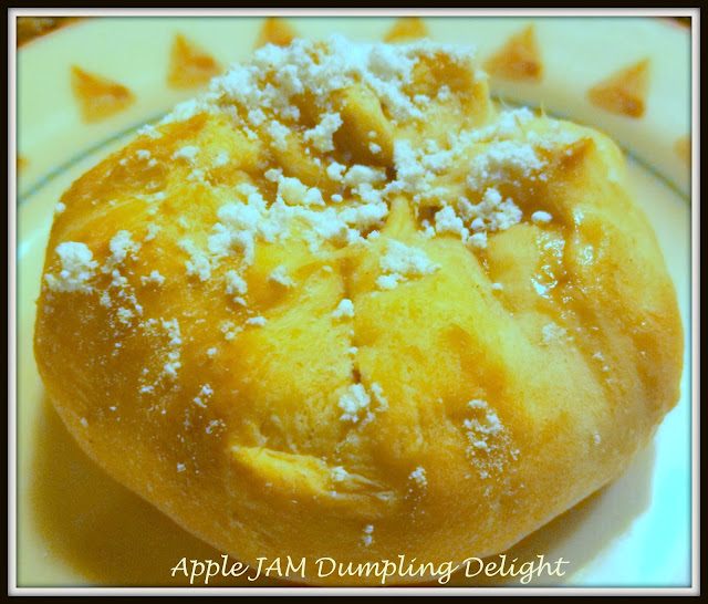 apple jam dumpling delights