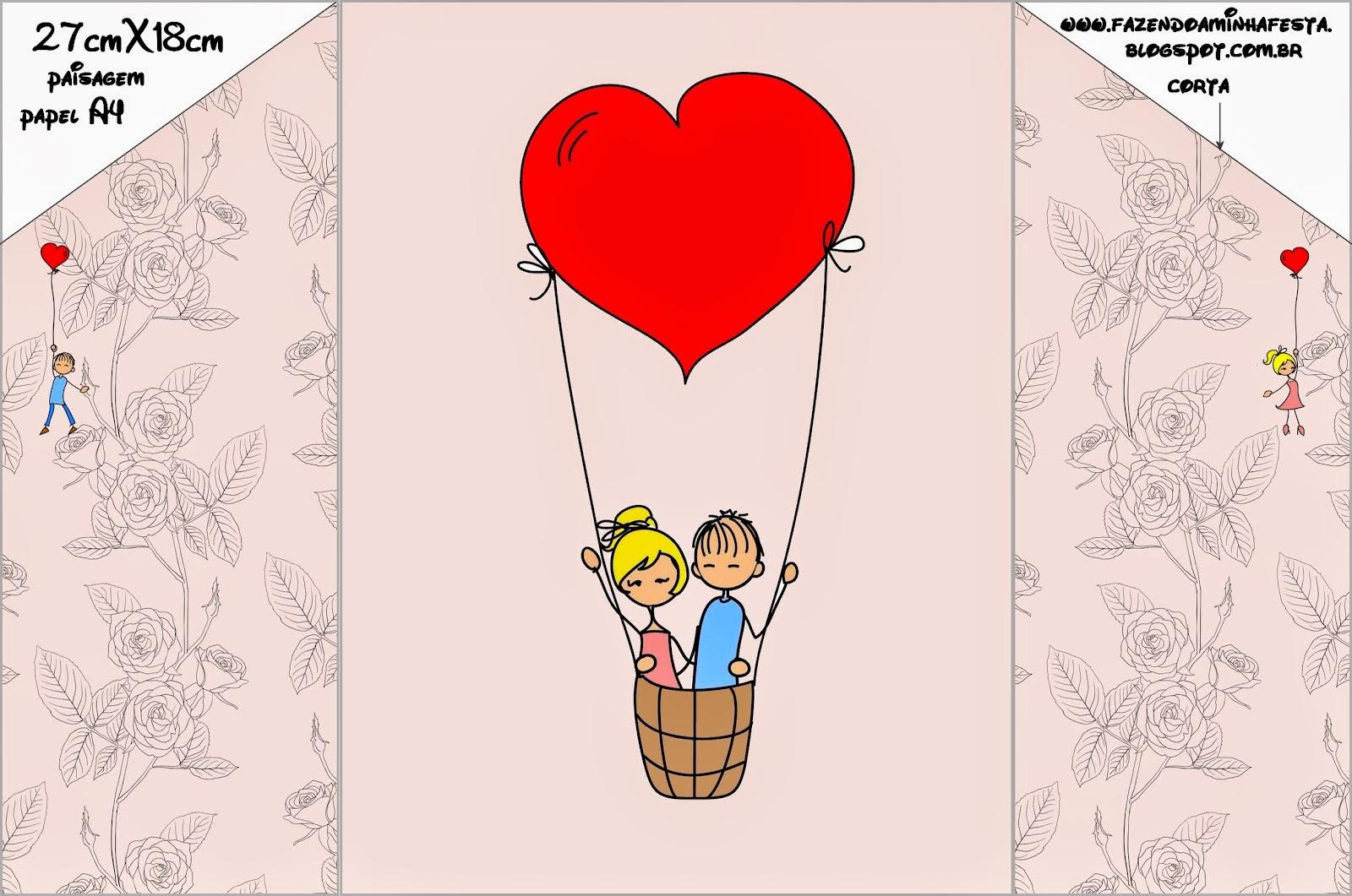 Wedding Couple With Balloons: Free Printable Wedding Invitations ...