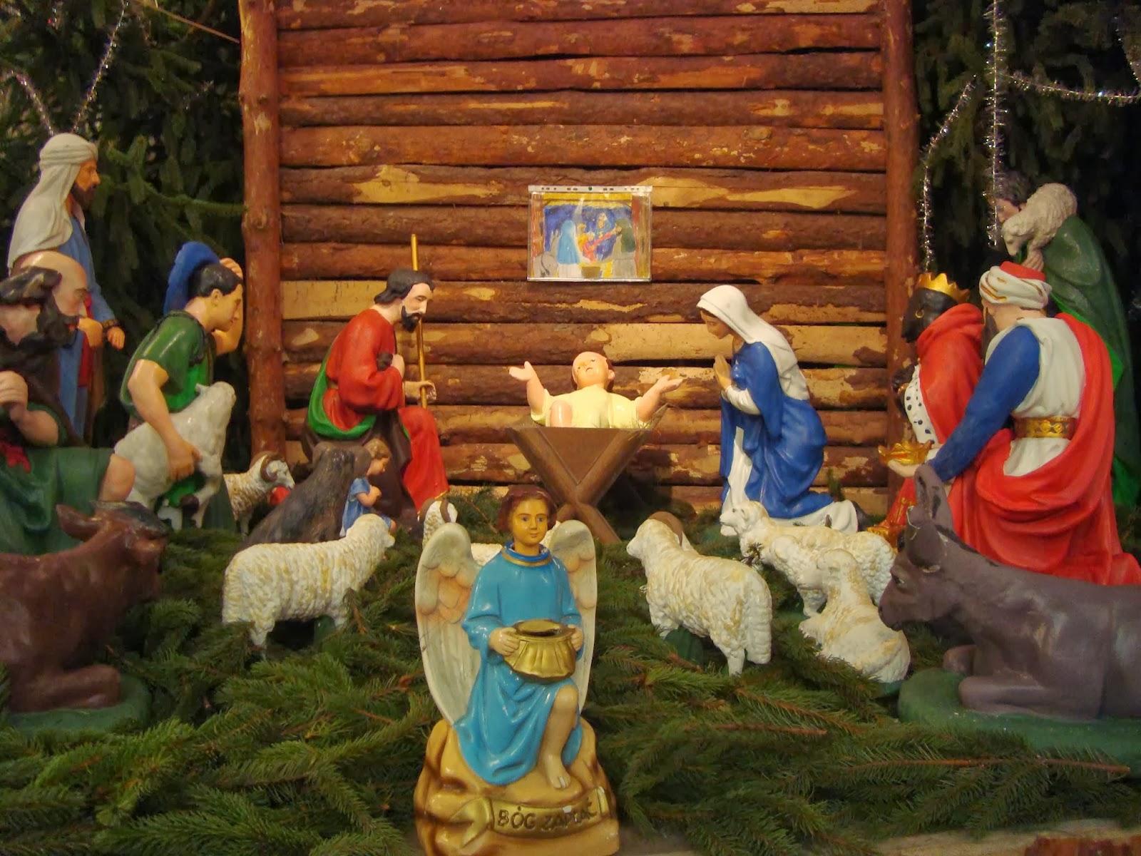 świąteczny Toruń, szopka, kościół Wniebowzięcia Najświętszej Marii Panny