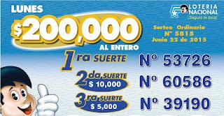 numeros ganadores loteria nacional sorteo 5815