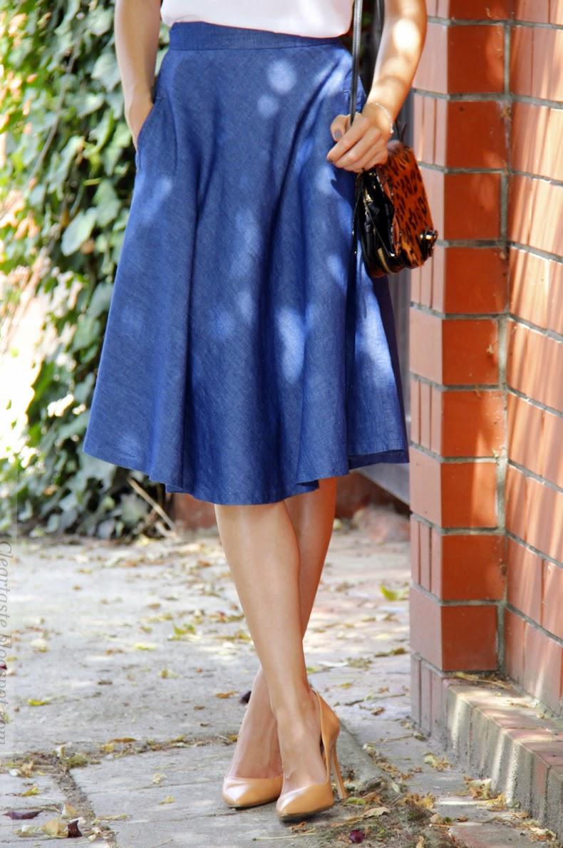 jeansowa spódnica Zara