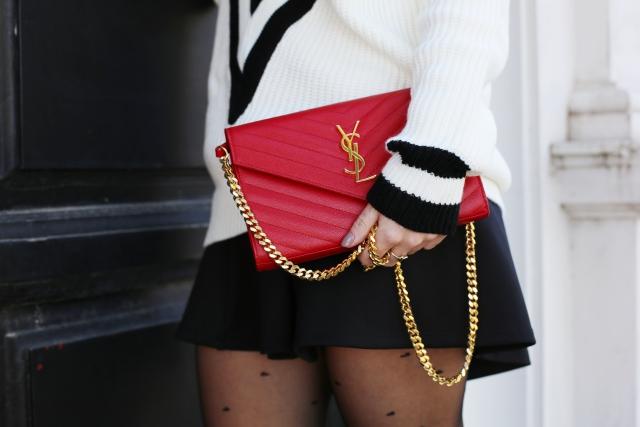 Bolso rojo Yves Saint Laurent
