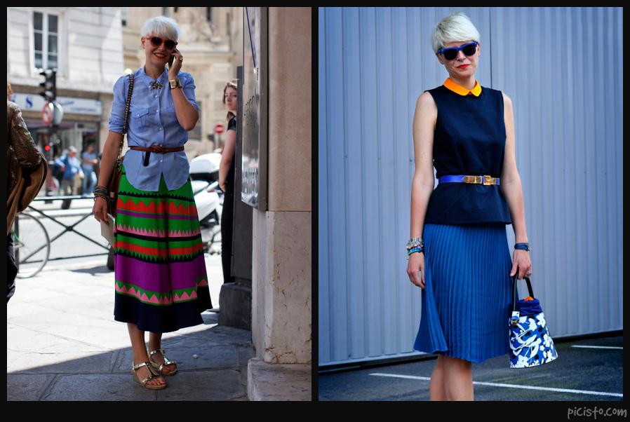 Elisa Nalin Wearing Blue