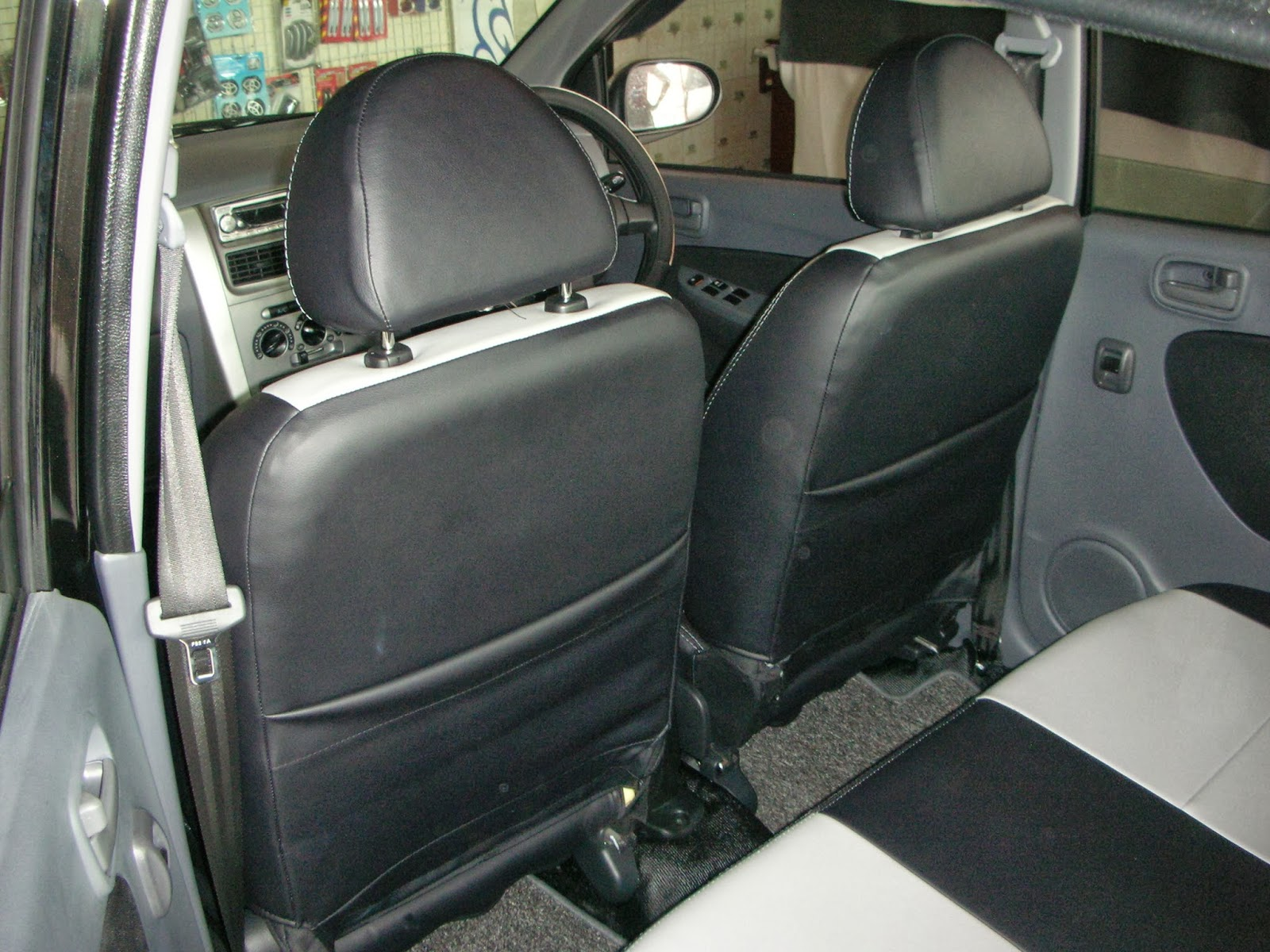 Viva car sticker design - Viva Elite Leather Seat Covers Two Tone Design Vip Car Interiors Srilanka