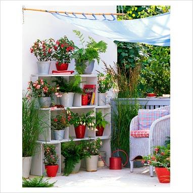 Azul vital decoraci n de jardines peque os Jardines verticales para patios pequenos