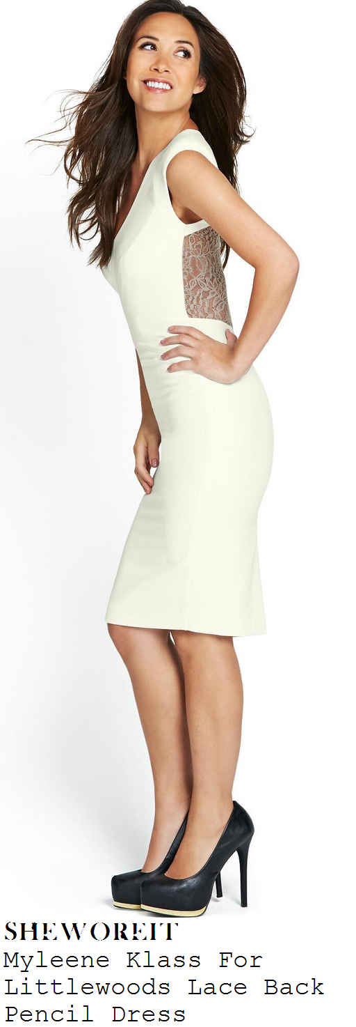 myleene-klass-white-sleeveless-v-neck-bodycon-lace-back-pencil-dress-x-factor