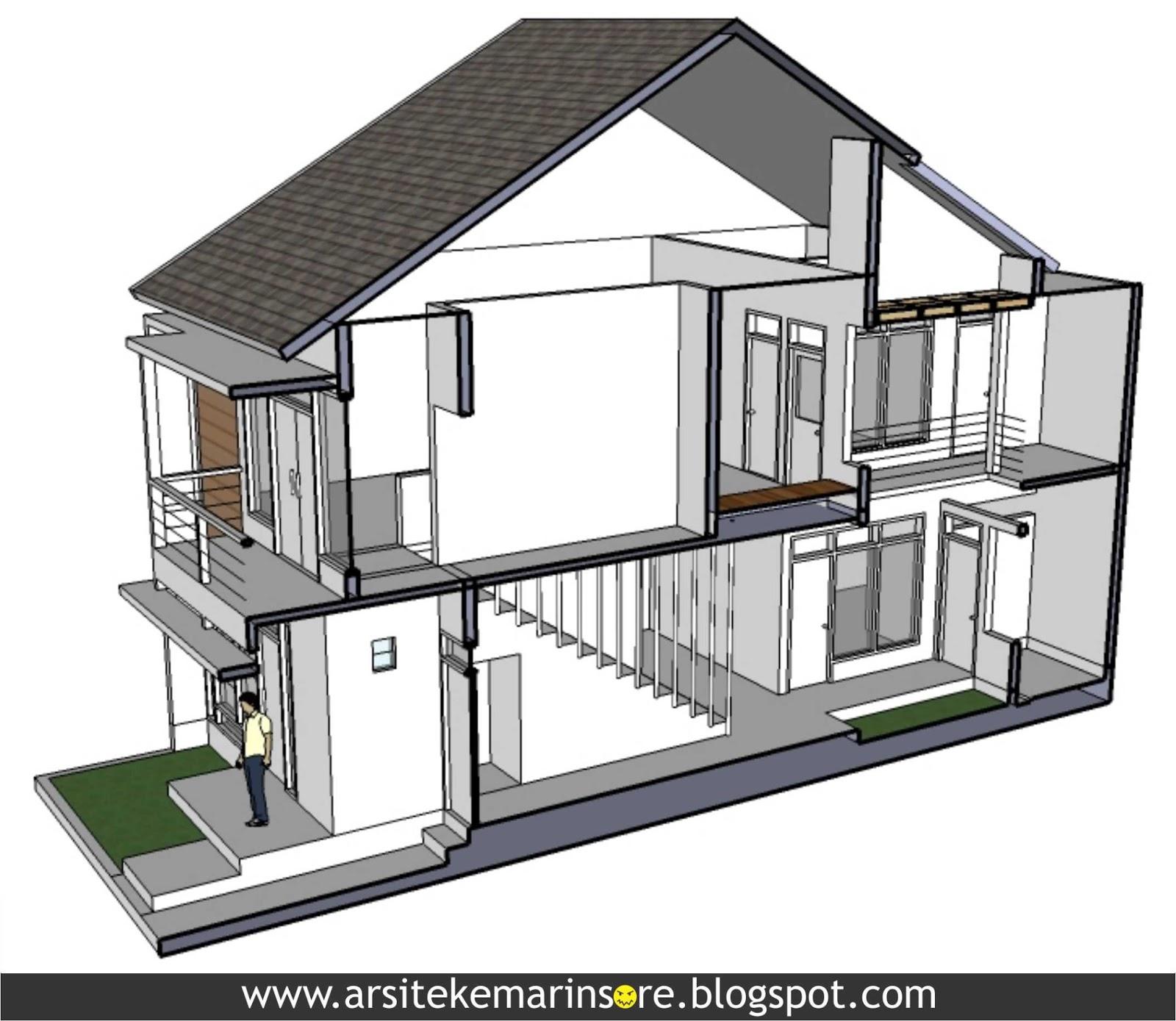 arsitekemarinsore rumah lebar 7 5 meter