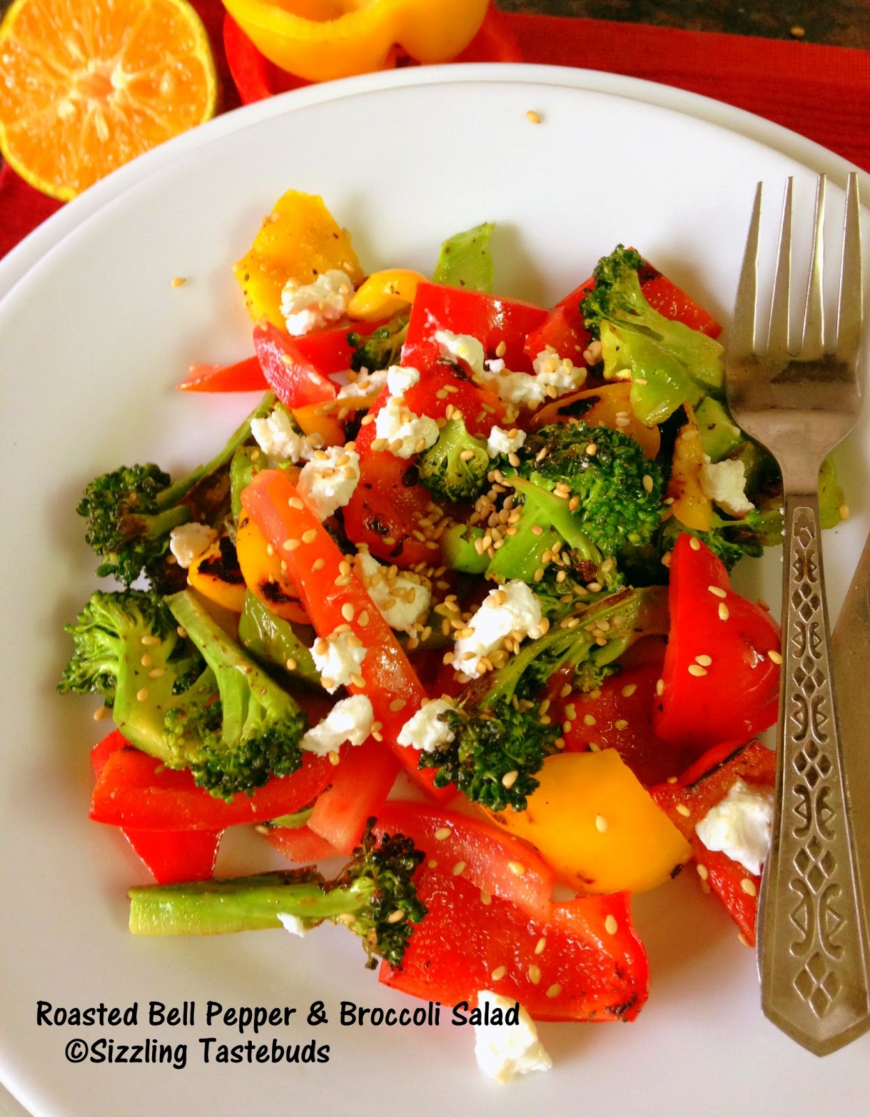 Broccoli and Roasted Pepper Salad