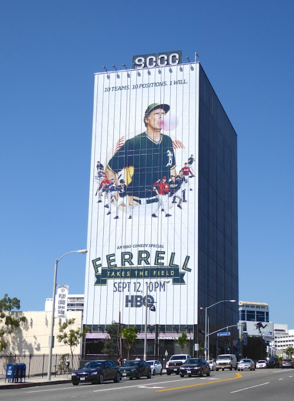 Giant Ferrell Takes the Field billboard Sunset Strip