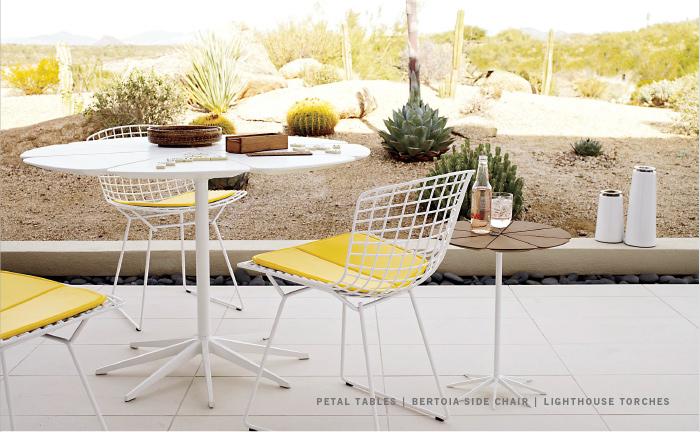 die wohngalerie amerikanisches bauhaus design der 50er jahre mit richard schultz und knoll. Black Bedroom Furniture Sets. Home Design Ideas
