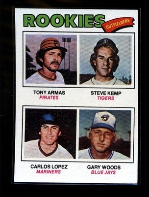 Tony Armas 1977 baseball card 1976 (note Steve Kemp, Pirates, 1985-1986)