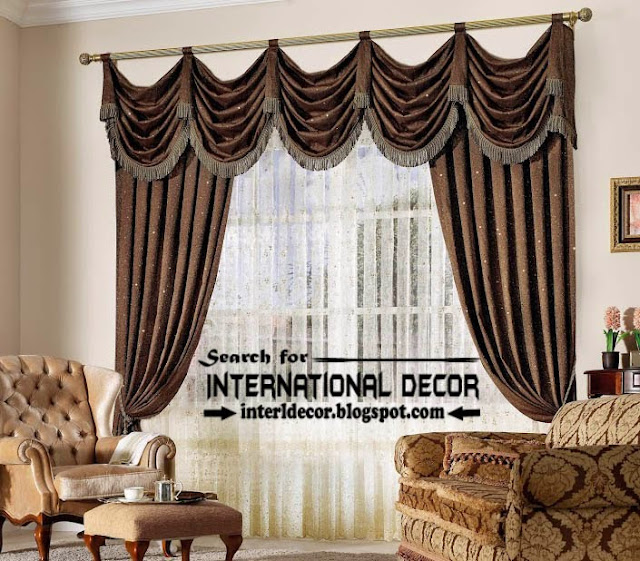 Top trends living room curtain styles colors and materials for Different styles of drapes