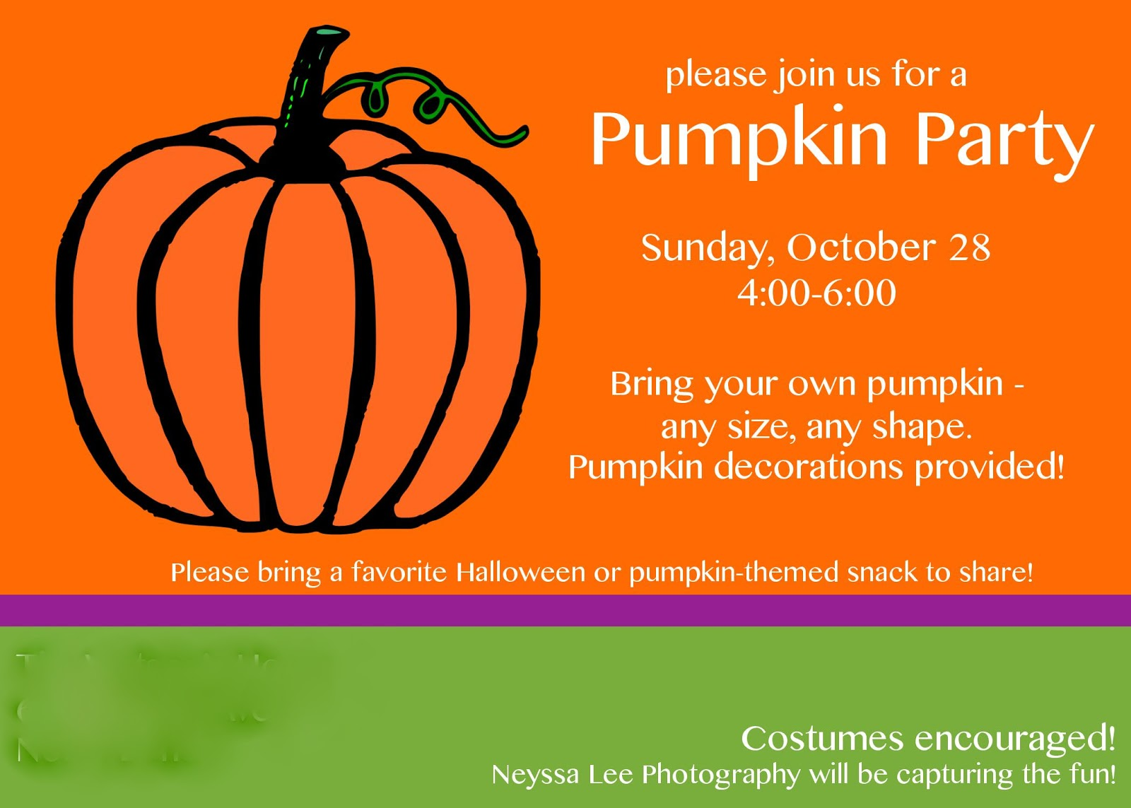 Circle River Creations: Halloween: Pumpkin Party