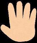 指の数え方のイラスト「5」