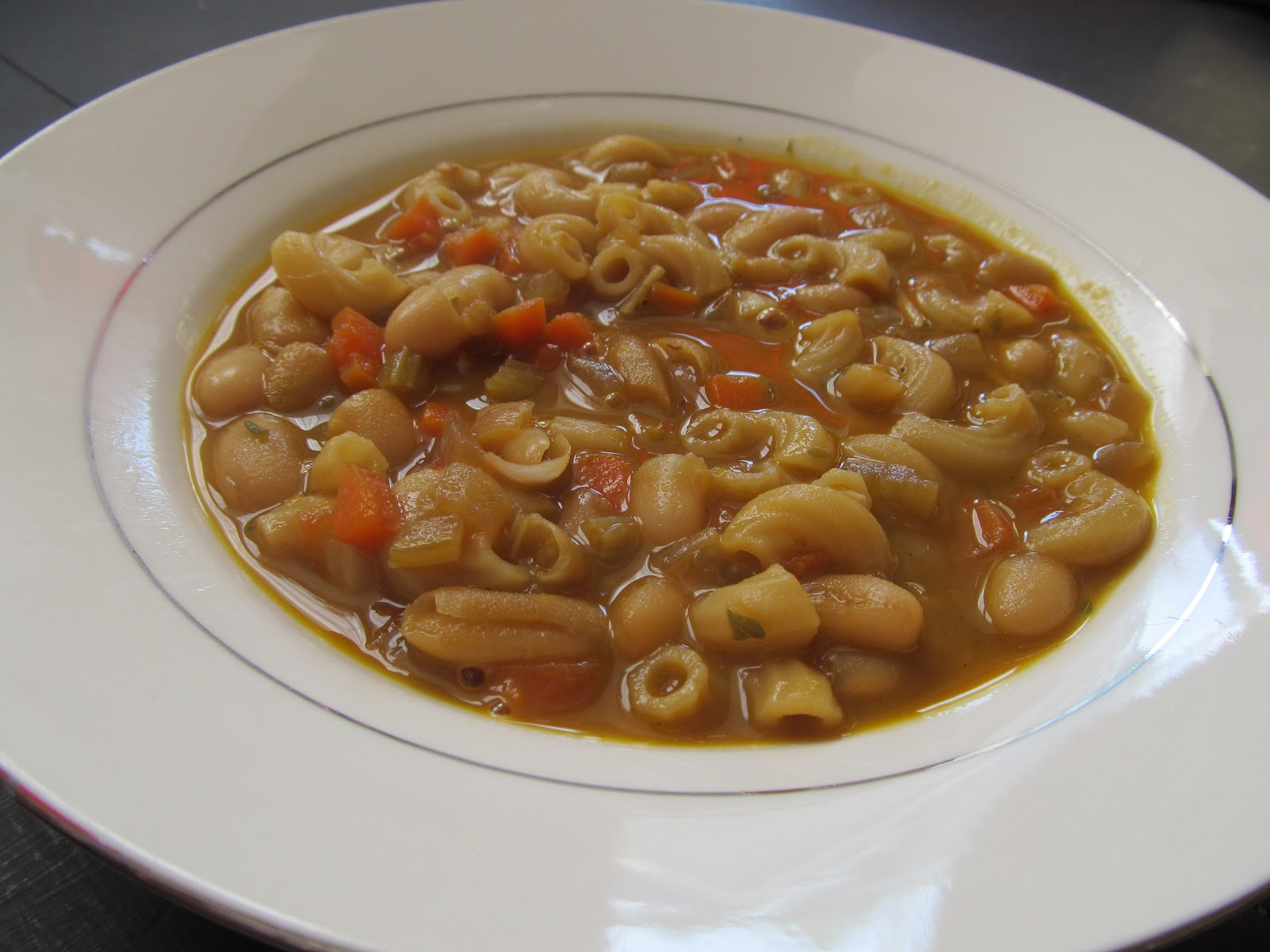 You, Me and B: Recipe - White Bean and Pasta Soup from Epicurious