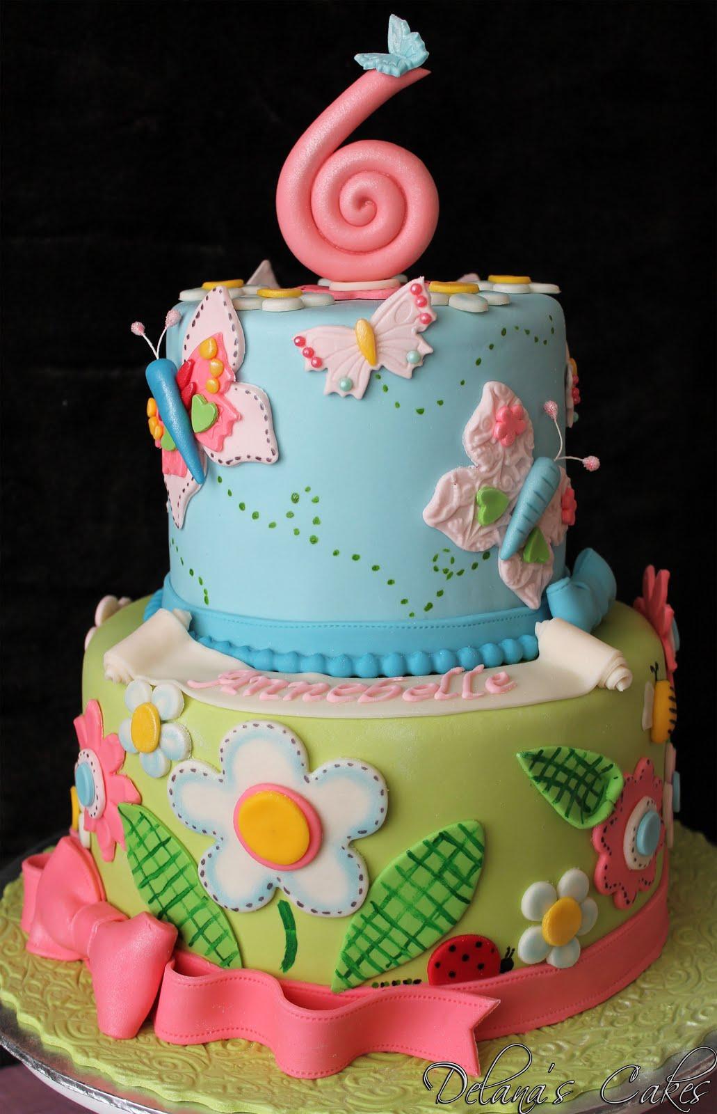 Delanas cakes flower garden cake flower garden cake izmirmasajfo