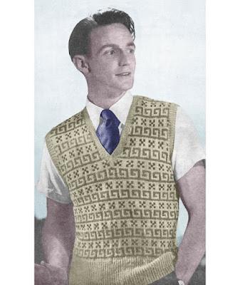 1940s woolen pullover