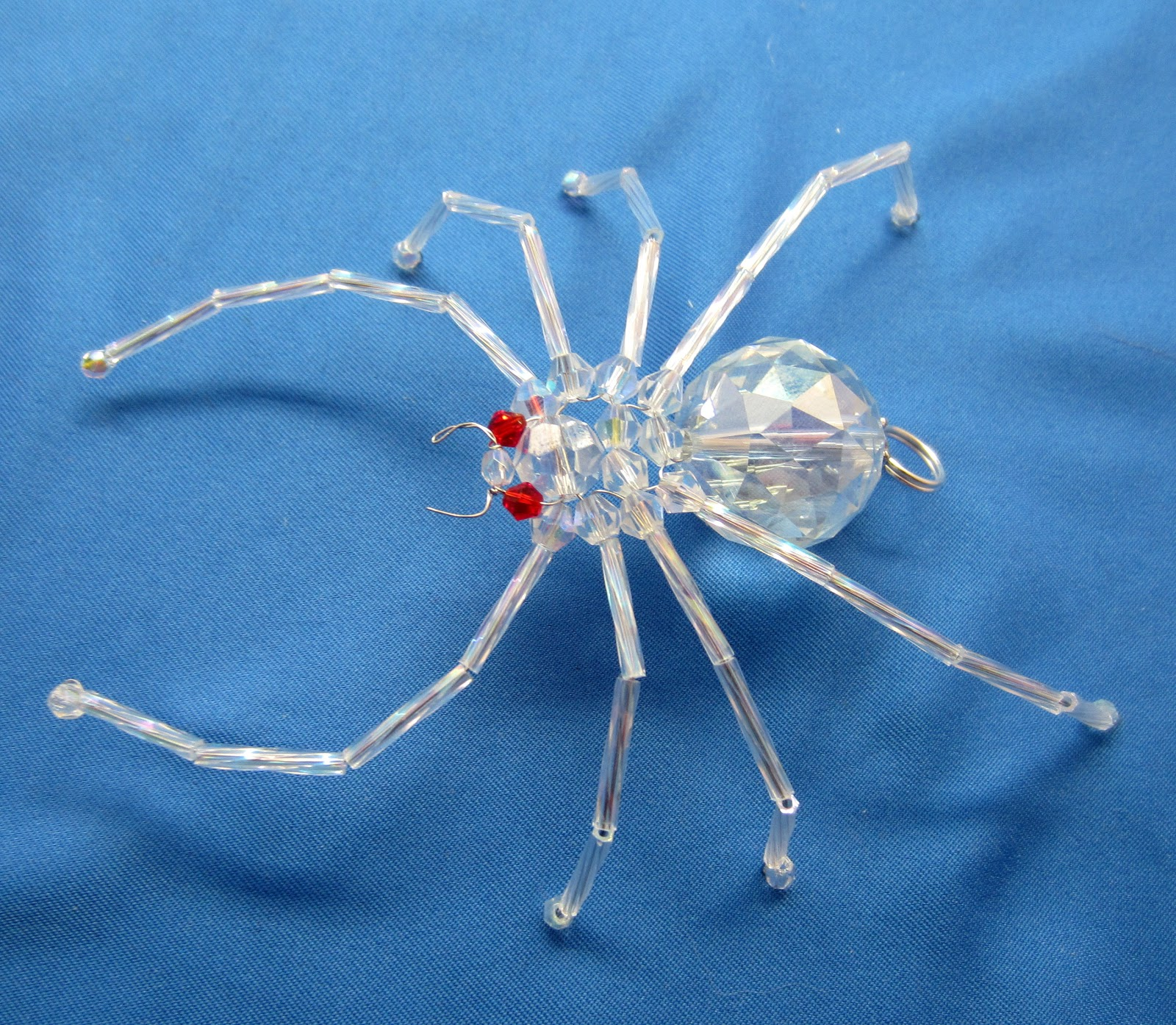 BEAD AND WIRE SPIDER ORNAMENTS | Beads and Wire by Kloskrafts