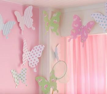 Con o sin medias tintas mi fiesta tem tica low cost - Mariposas para pared ...