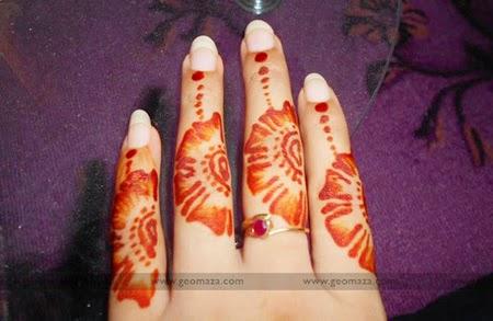 Finger Mehndi Design : Beautiful and unique finger mehndi designs 2014 fashion updos
