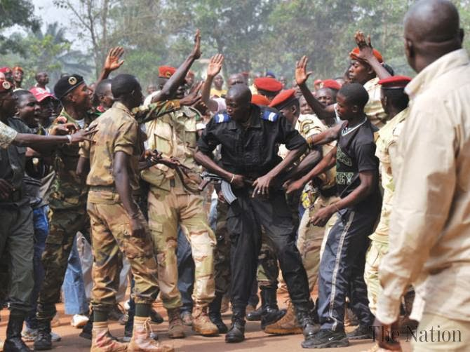 C Africa soldiers lynch ex-rebel at ceremony