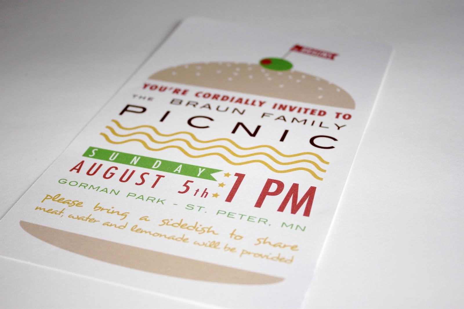 Family Picnic Invitation Jacki Moen