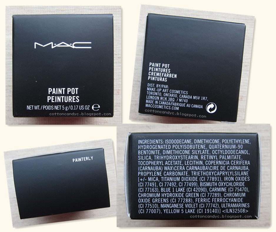 Cotton Candy Blog: MAC Paint Pot in Painterly, Swatches and Review