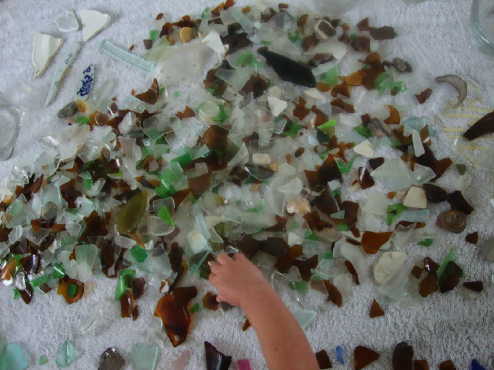 Sorting Sea Glass
