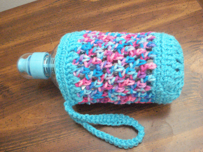 Free Crochet Pattern Water Bottle Holder : Handmade by Haniyyah: Crochet Pattern for Water Bottle ...