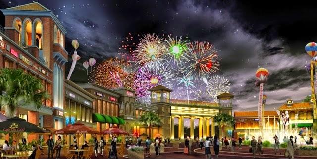 Perayaan Festive di Ruko Orchard Walk Batam