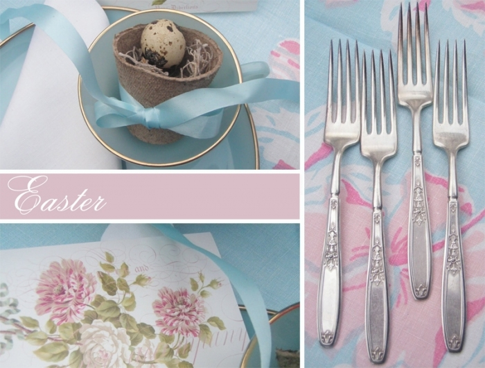 Easter table in shabby chic crafts and decor for Deco de table shabby
