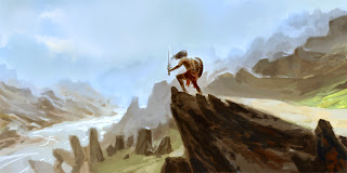 lukas thelin, fantasy art, conan, adventure, misty lands