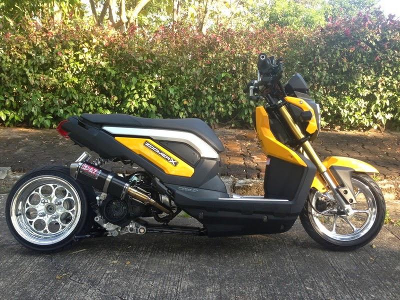 modifikasi honda zoomer x low rider