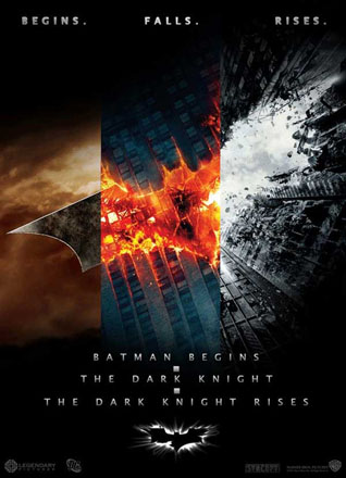 Batman Trilogy Elemental Poster