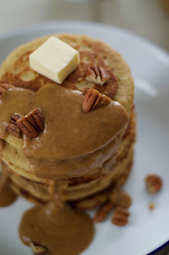 gluten-free pancakes pecan pie topping littlerosebook.co.uk