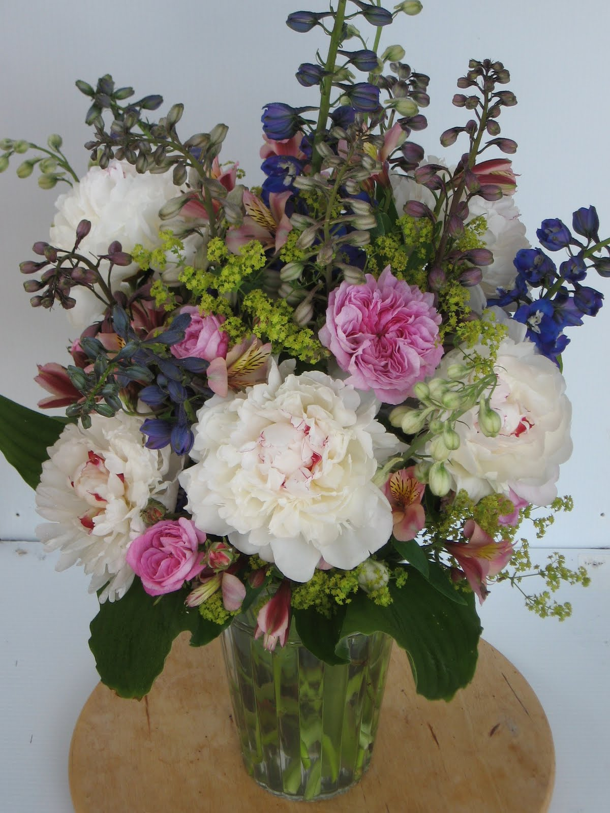 Flowers From A Country Garden Peony Vases Amd Bouquets