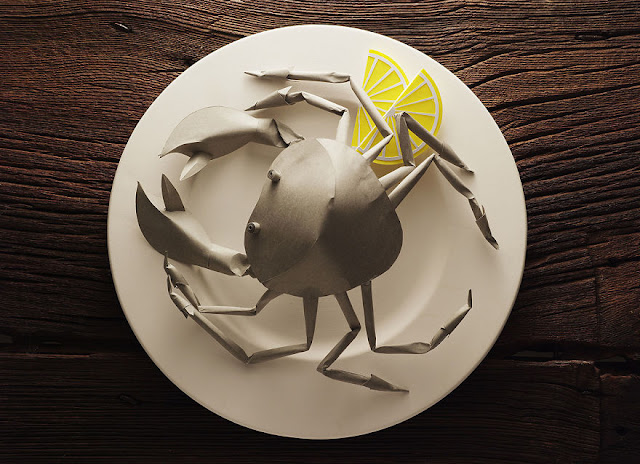 paper craft of gourmet food