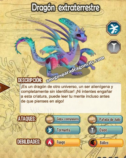 imagen de las caracteristicas del dragon extraterrestre