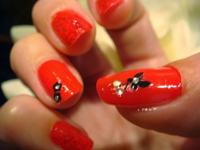manicura mariposa