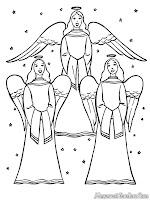 Buku Mewarnai Gambar Malaikat Bernyanyi Dihari Natal