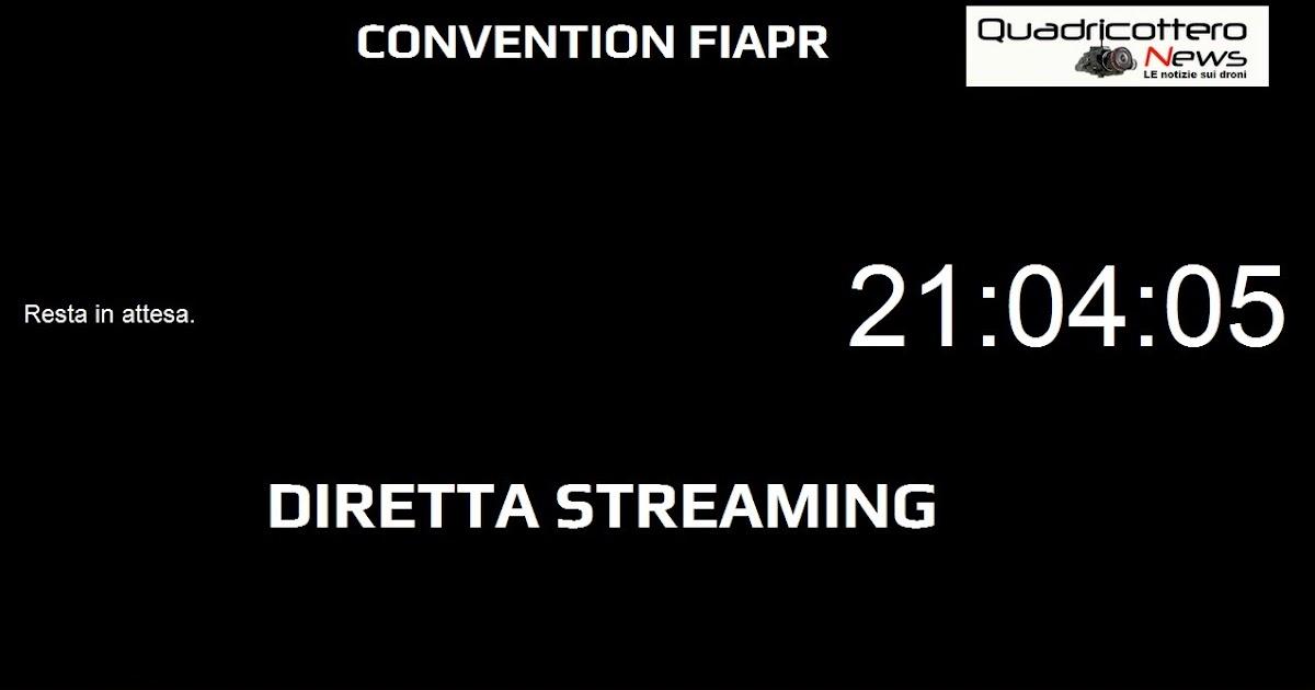 Diretta streaming per la convention fiapr di domani - La finestra di fronte streaming ...