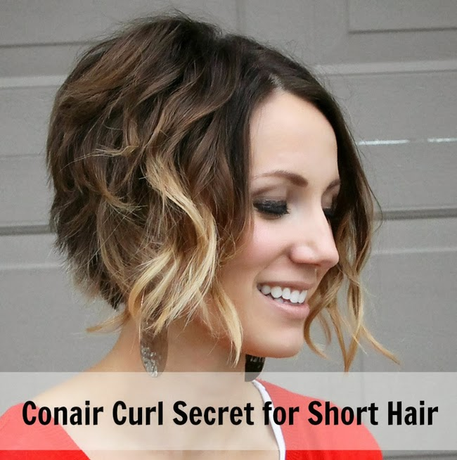 how to curl short hair with conair curl secret- tutorial - one