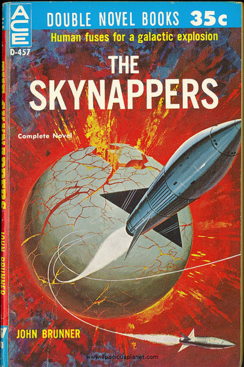 awesome classic sci-fi book cover John Brunner - The Skynappers