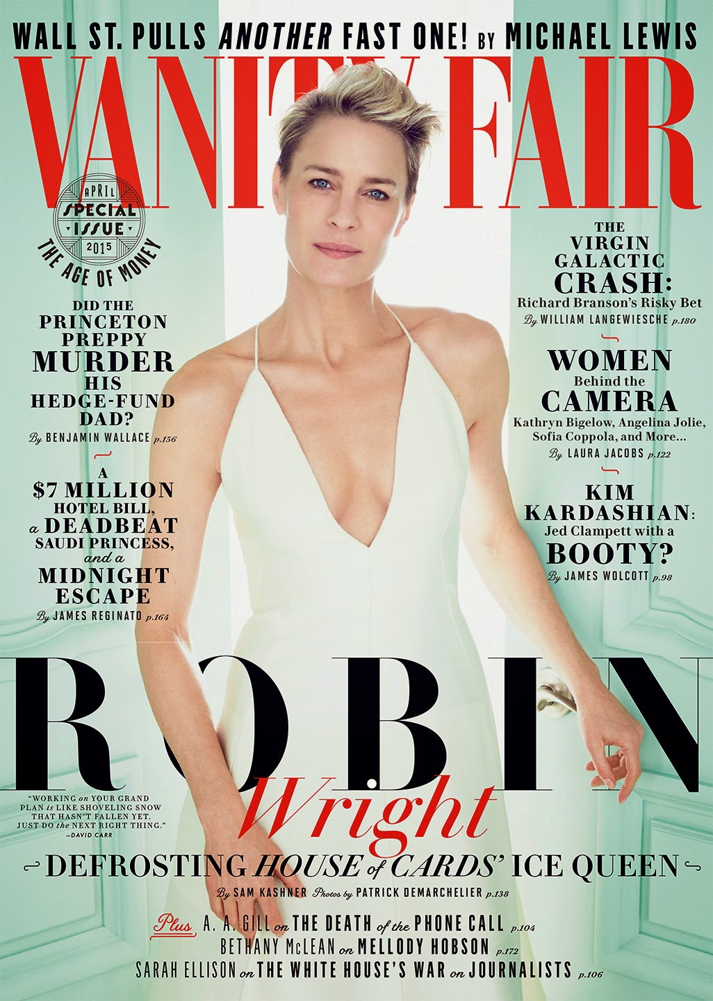 Actress @ Robin Wright by Patrick Demarchelier for Vanity Fair April 2015