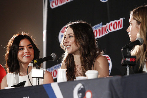 Lucy Hale, Troian Bellisario and Ashley Benson at New York Comic Con