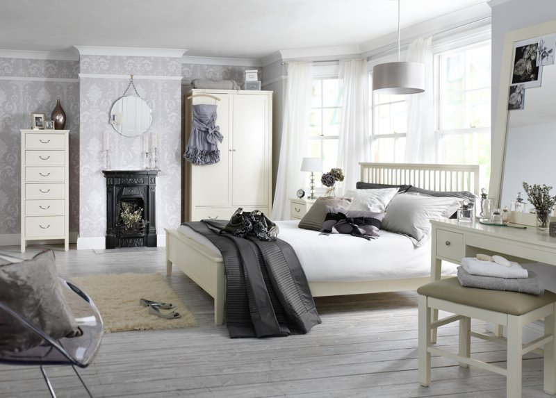 White and Grey Bedroom Color Scheme