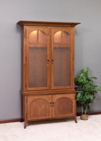 Beautiful Wood Gun Cabinet